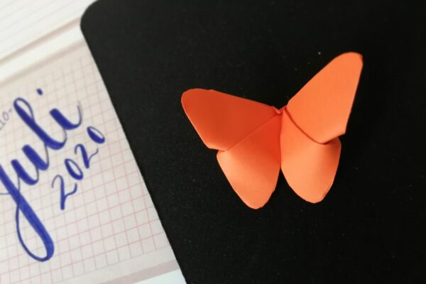 Origami Schmetterling orange