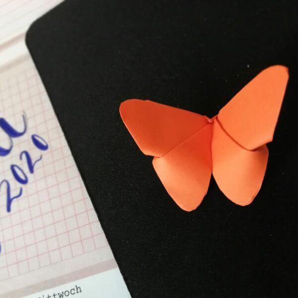 Origami Schmetterling orange