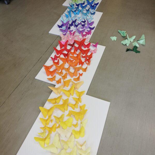 Schmetterlinge im Farbverlauf