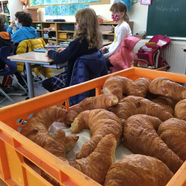 Croissants in Kiste