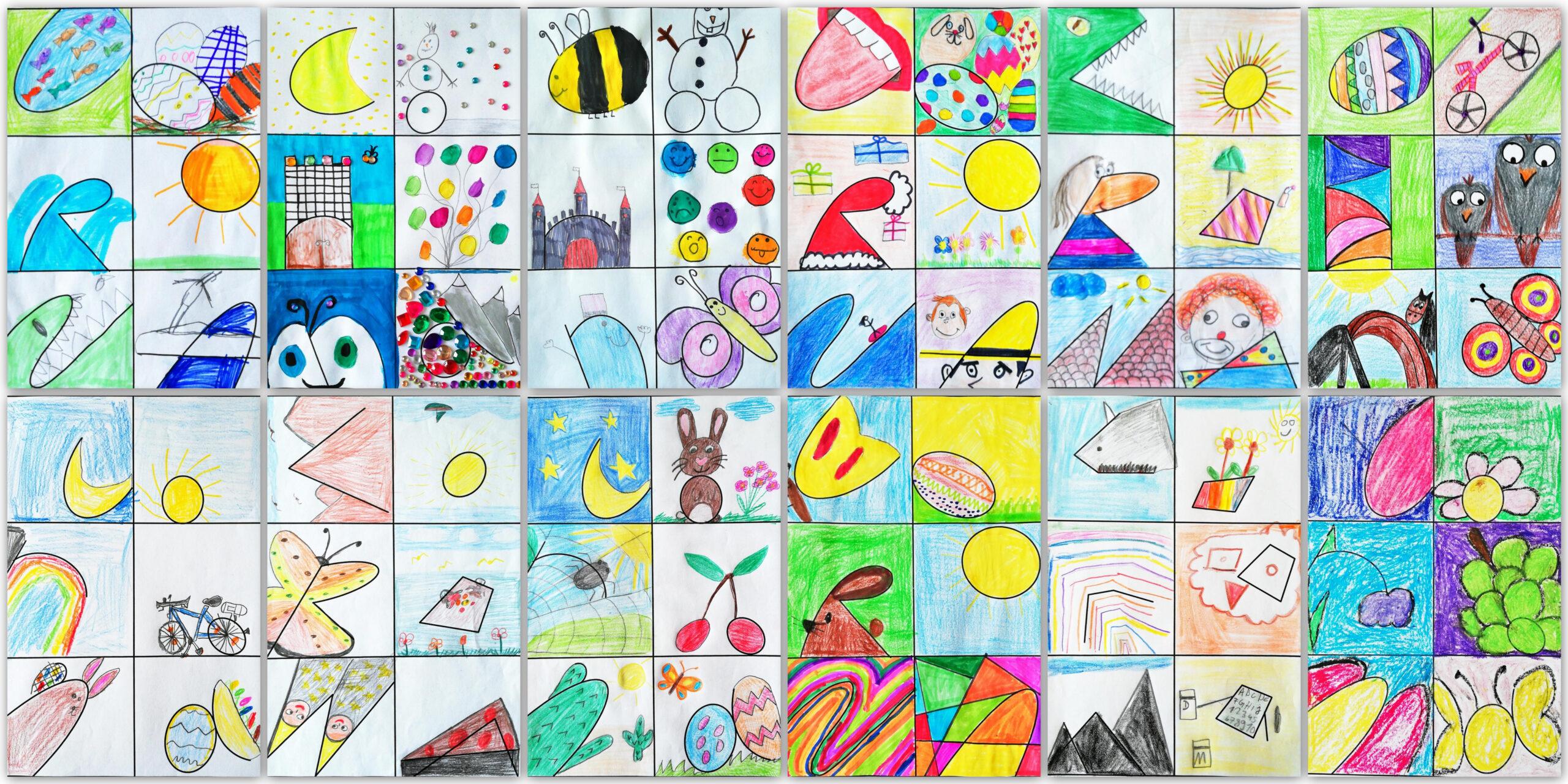 Collage Corona Buchstaben verschunden