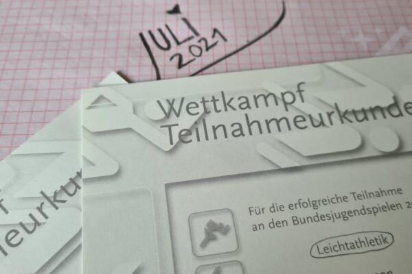 Urkunde Bundesjugendspiele